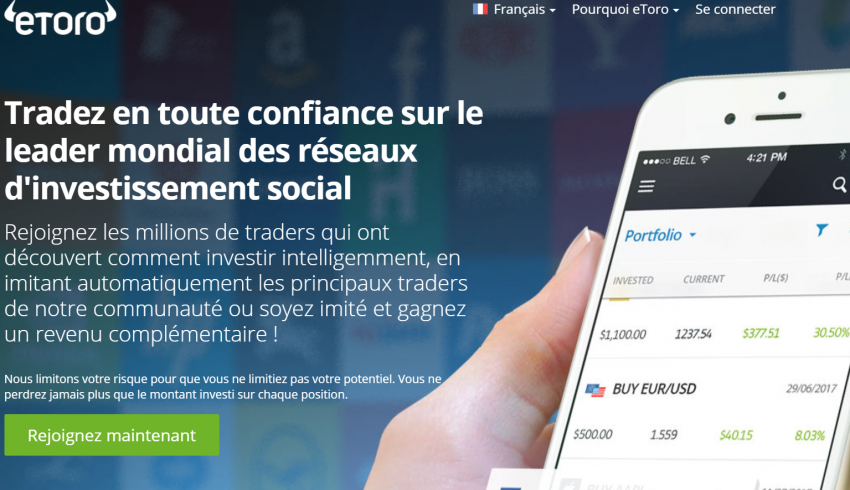 Etoro, trading, devise, CFDs, Indices, Crypto-monnaies